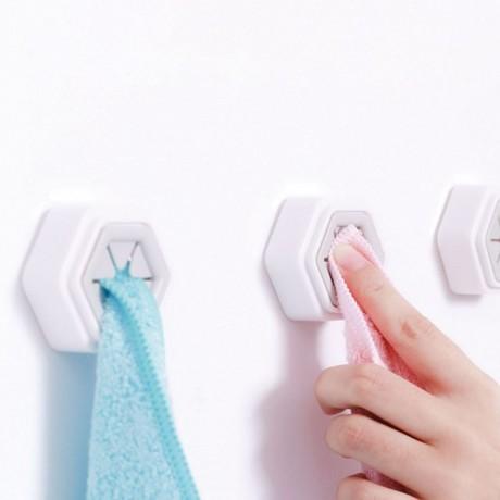 2 бр. лепящи закачалки за кърпи със захващащи гумени перца
