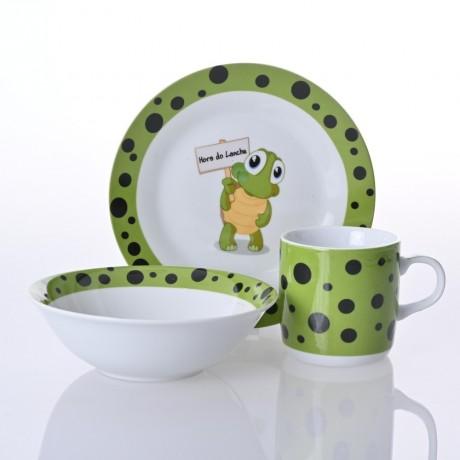 Детски сервиз за хранене от 3 части - костенурка