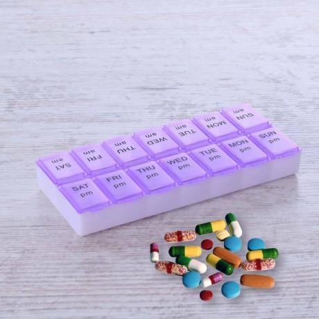 Малка двойна кутия - органайзер за хапчета