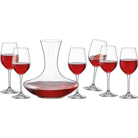 Комплект гарафа и 6 броя чаши за вино Rona Sommelier