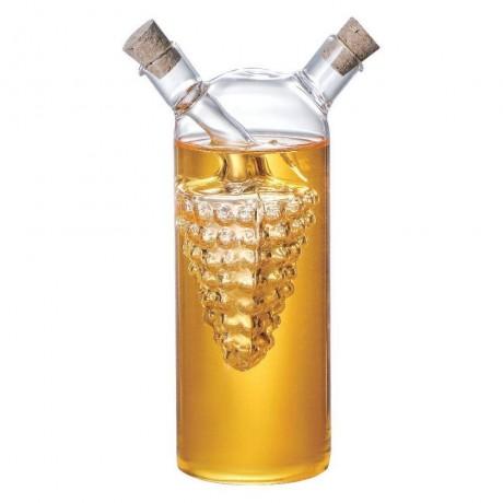 Комбиниран стъклен съд за олио и оцет