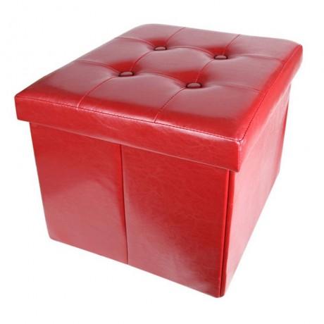 Сгъваема табуретка в червен цвят HOMA