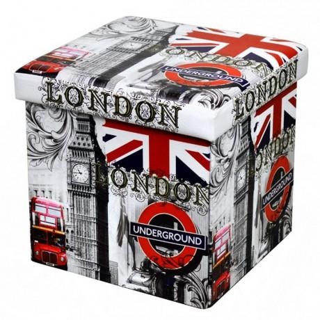 Сгъваема табуретка с мотив Лондон марка HOMA