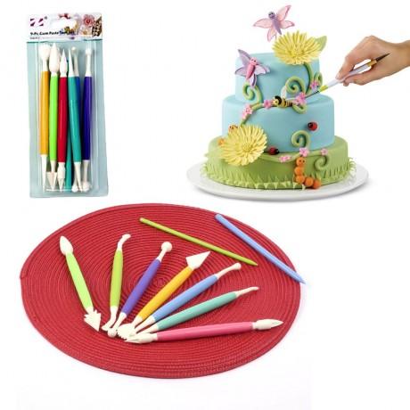 Комплект от 9 инструмента за декориране на фондан и торти