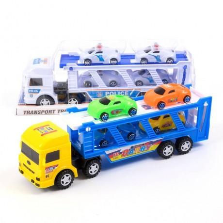 Автовоз с четири малки колички