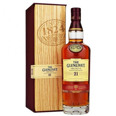 Уиски Гленливет 21 годишно 0.7 л