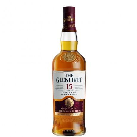 Уиски Гленливет 15 годишно 0.7 л