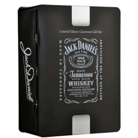 Уиски Джак Даниелс 0.7 л с 2 Чаши в Метална Кутия