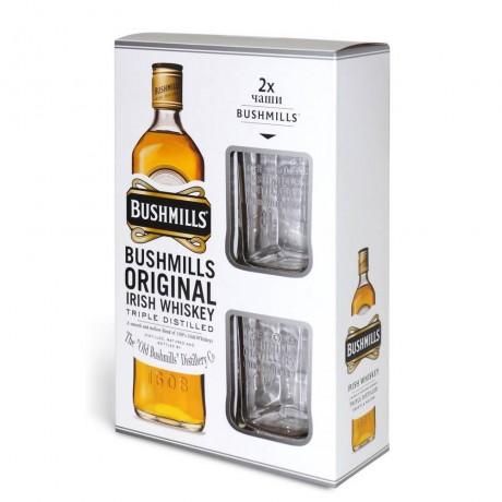 Уиски Бушмилс 0.7 л с 2 Чаши