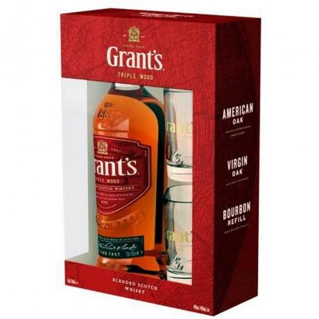 Уиски Грантс 0.7 л с 2 Чаши