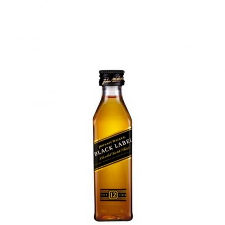 Уиски Джони Уокър Черен Етикет 12 годишно 0.05 л Миниатюра