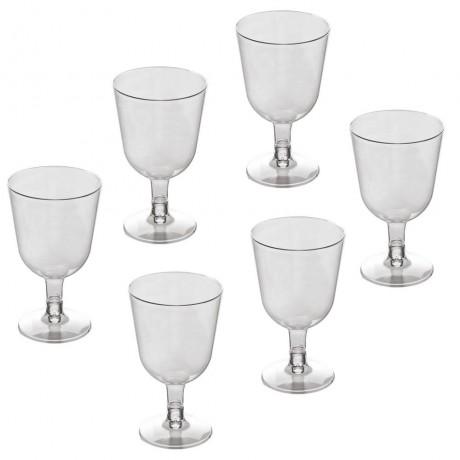 6 бр. винени пластмасови чаши за еднократна употреба 150 мл