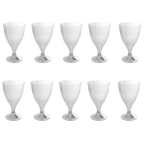 10 бр. винени пластмасови чаши за еднократна употреба 200 мл