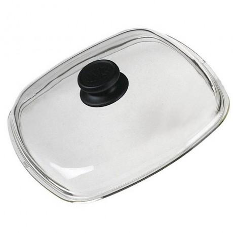 28 х 28 стъклен капак с бакелитова дръжка