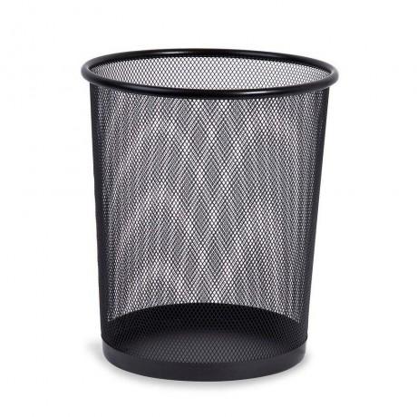 Метален черен плетен кош за боклук