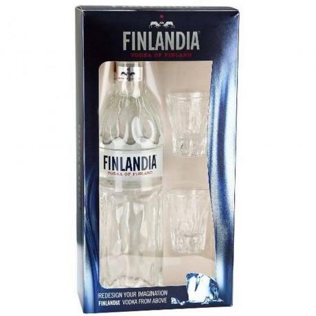 Водка Финландия 0.7 л с 2 Шот Чаши
