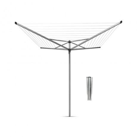 40 м метално сив въртящ се простор с метален шиш Brabantia от серия TOP SPINNER