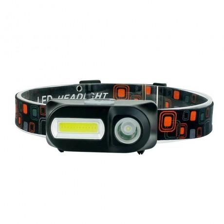 Влагозащитен челник с две светлини, три режима на работа, SOS сигнал и USB зареждане