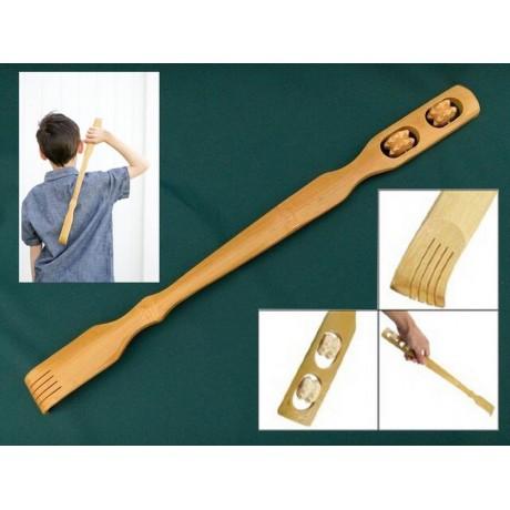 Масажор - дървена ръчичка с 2 ролки