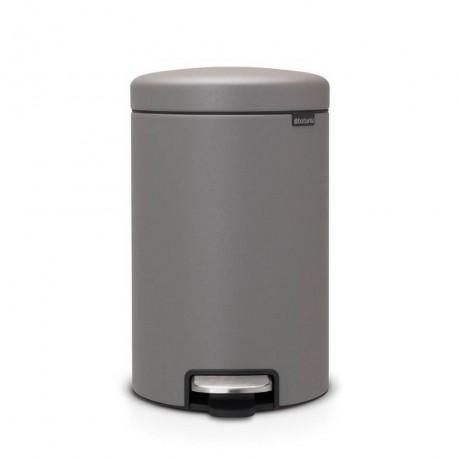 12 л. цвят минерално бетонно сиво кош за смет с педал Brabantia от серия NEW ICON