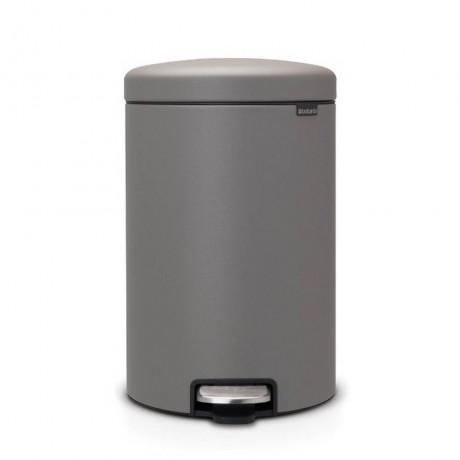 20 л. цвят минерално бетонно сиво кош за смет с педал Brabantia от серия NEW ICON