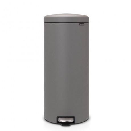 30 л. цвят минерално бетонно сиво кош за смет с педал Brabantia от серия NEW ICON