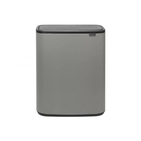 2 + 30 л. цвят минерално бетонно сиво кош за смет Brabantia от серия BO TOUCH