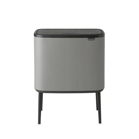 3 х 11 л. цвят минерално бетонно сиво кош за смет Brabantia от серия BO TOUCH