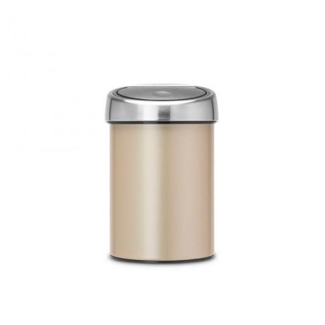 30 л. цвят шампанско кош за смет Brabantia от серия TOUCH BIN