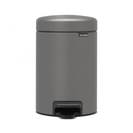 3 л. цвят минерално бетонно сиво кош за смет с педал Brabantia от серия NEW ICON