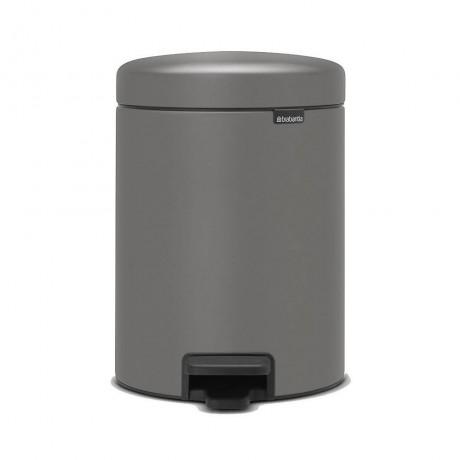 5 л. цвят минерално бетонно сиво кош за смет с педал Brabantia от серия NEW ICON