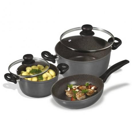 Комплект 5 части кухненски съдове за готвене Stoneline