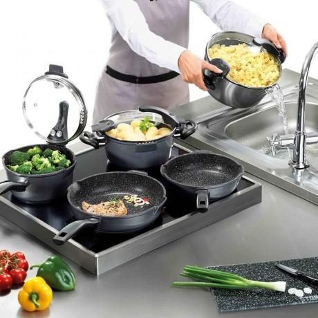 Комплект 8 части кухненски съдове Stoneline FUTURE