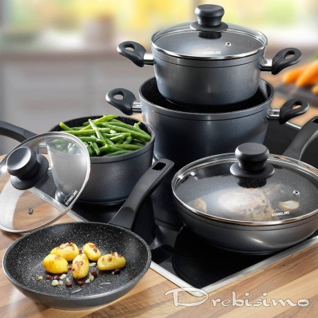 Комплект 8 части кухненски съдове Stoneline