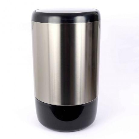 20 л. стилен кош за смет матиран инокс с вътрешна кофа и люлеещ капак Lima