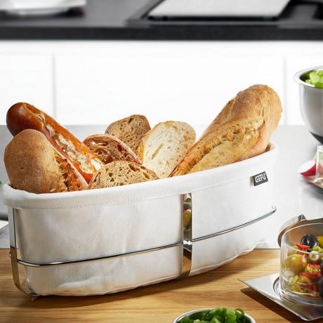 Бял овален панер за хляб GEFU от серия Brunch