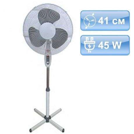 41 см вентилатор в цвят бяло и сиво на стойка MUHLER