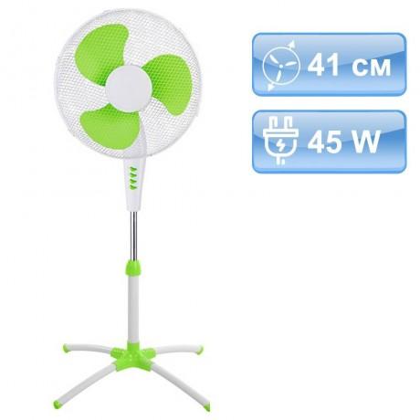 41 см вентилатор в цвят зелено и бяло на стойка MUHLER