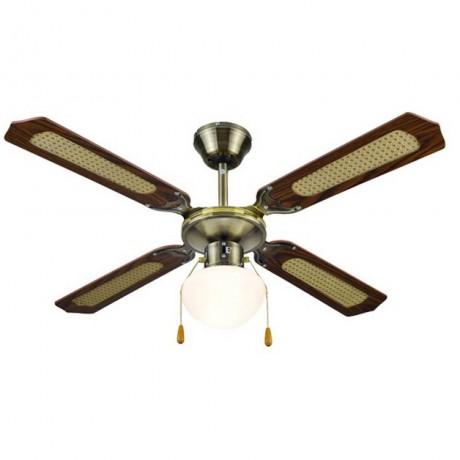 107 см таванен вентилатор с едно осветително тяло MUHLER