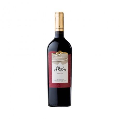 Червено вино Вила Ямбол Мерло 0,250 л 13,5%