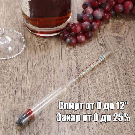 Битов стъклен ареометър - виномер
