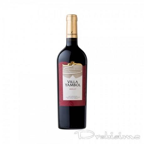 Червено вино Вила Ямбол Мерло 0,375 л 13,5%