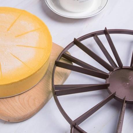 27 см двустранен пластмасов разделител за торта за 10 или 12 парчета