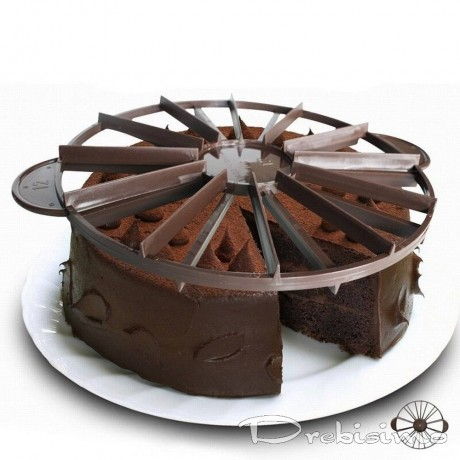 27 см двустранен пластмасов разделител за торта за 12 или 16 парчета