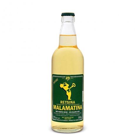 Бяло вино Retsina Malamatina 0,5 л 11%