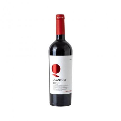 Червено вино Quantum Пино Ноар и Мерло 0,375 л 13,5%