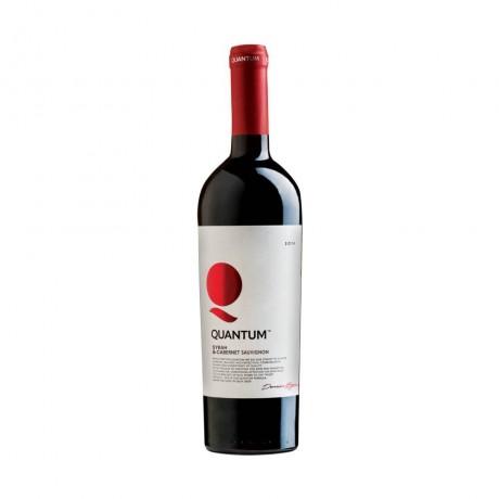 Червено вино Quantum Сира и Каберне 0,375 л 13,5%
