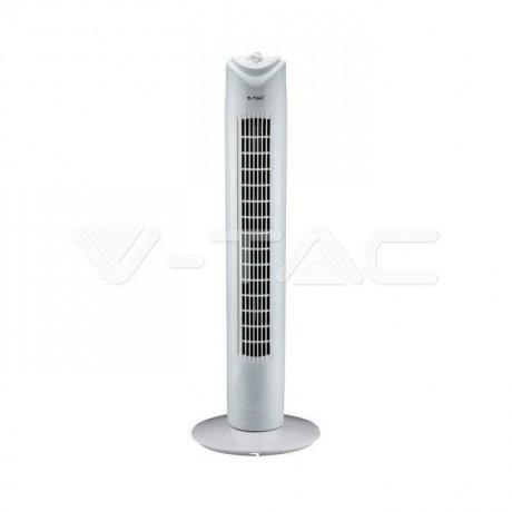 Бяла вентилаторна кула с таймер V-TAC