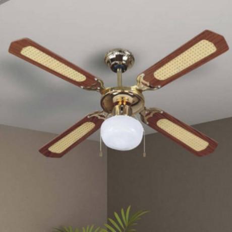 107 см таванен вентилатор с перки от MDF и едно осветително тяло V-TAC
