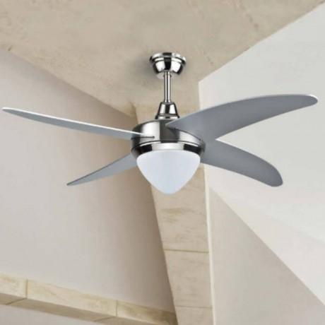 107 см таванен вентилатор с перки от MDF, LED осветително тяло и дистанционно V-TAC